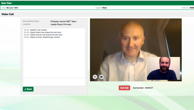 Patient View via WebRTC